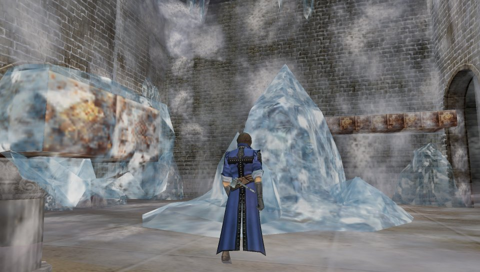 A Cutscene in the Ice Caverns
