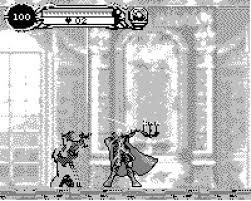 Alucard exploring the Game.com version of the castle